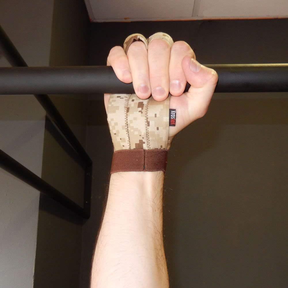 Dise/ño 3D S Par de calleras Hand Strips 5.0 para Crossfit Camuflaje marr/ón