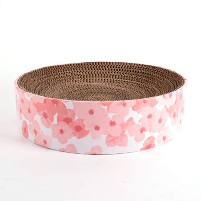 HU Pet Nest Pet Nest Mesa Redonda Cat Scratch Board Corrugated Paper Resistente a la Intemperie para atrapar el Dispositivo de molienda (Color : C): ...