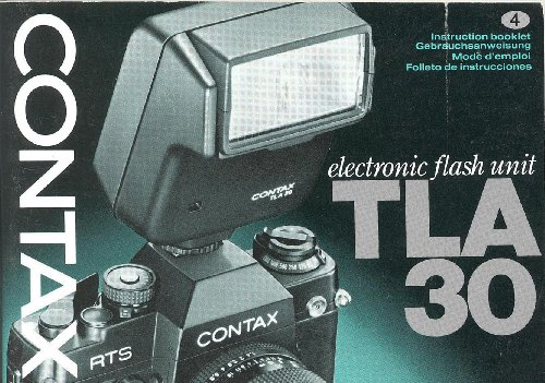 Electronic Flash Instruction Manual - Contax TLA30 Electronic Flash ORIGINAL Instruction Manual (Multi Language)