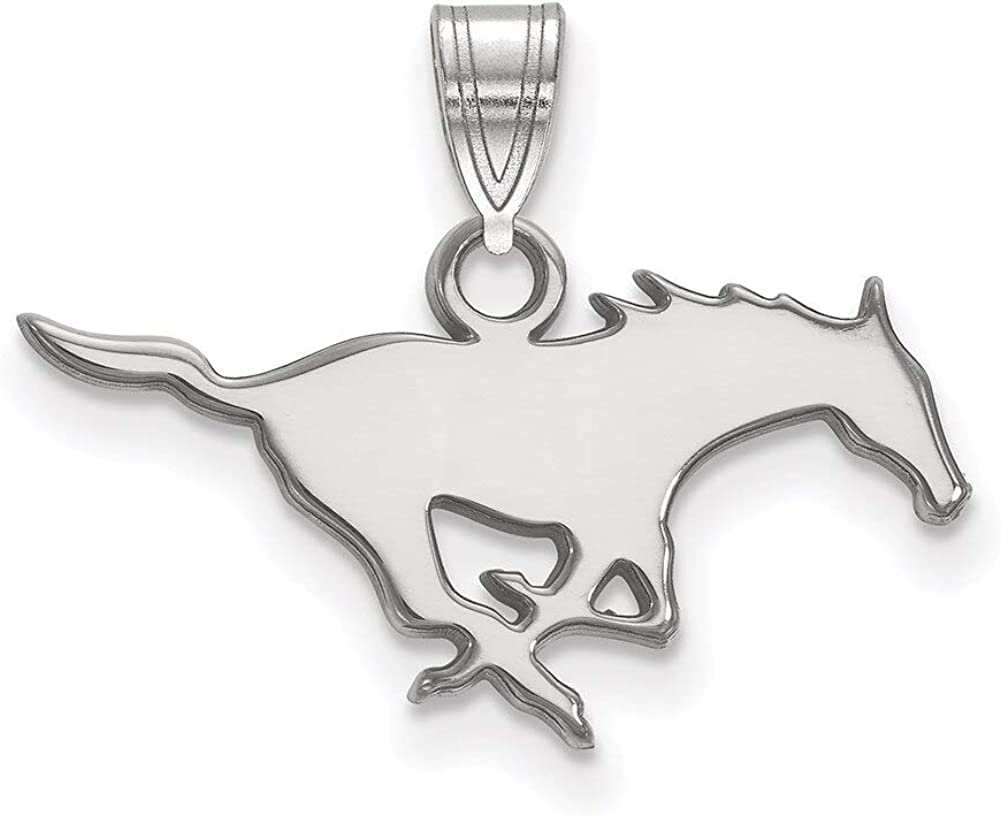 Lex /& Lu LogoArt 10k White Gold Southern Methodist University Small Pendant