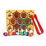 Flymall Wooden Bee Picking Toy Catching Practices for Baby...
