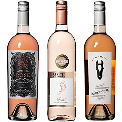 Apothic, Barefoot and Dark Horse Limited Release Rosé Wine Mixed Pack, 3 x 750mL