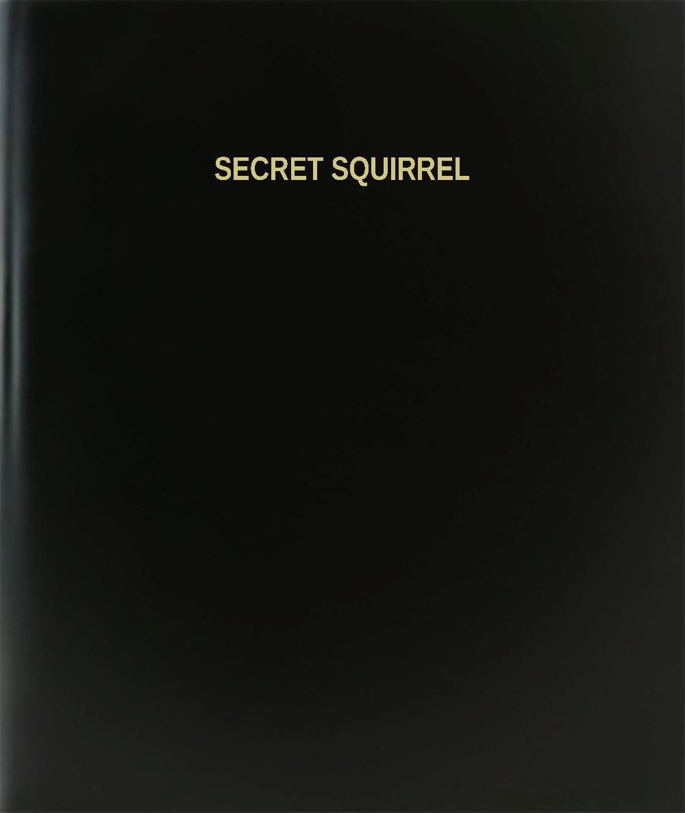 BookFactory Secret Squirrel Log Book / Journal / Logbook - 120 Page, 8.5''x11'', Black Hardbound (XLog-120-7CS-A-L-Black(Secret Squirrel Log Book))