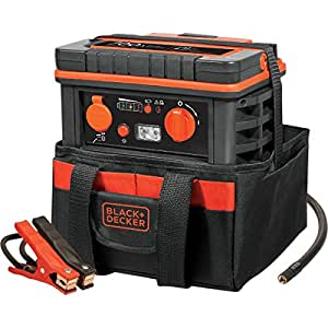 Black And Decker 700 Peak Amp Jump Starter with 120 Psi Air Compressor and Tool Bag