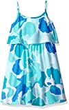 The Children's Place Big Girls' Floral Flounce Dress, Sea Frost, XXL(16)