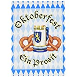 Beistle 58309 8-Pack Oktoberfest Invitations, 4 by 51/2-Inch
