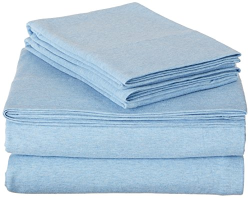 AmazonBasics Heather Jersey Sheet Set – Twin