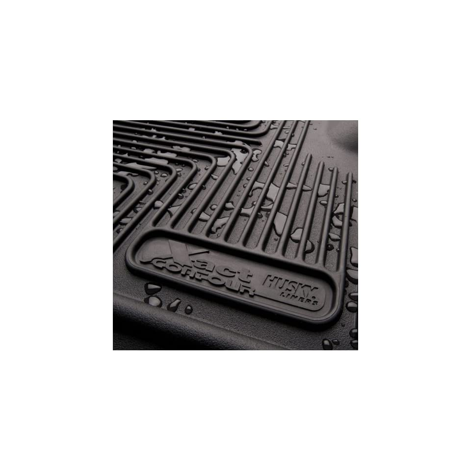 Husky X act Contour 2007 12 Cadillac Escalade/ESV/EXT 2nd Seat Floor Liners  Black