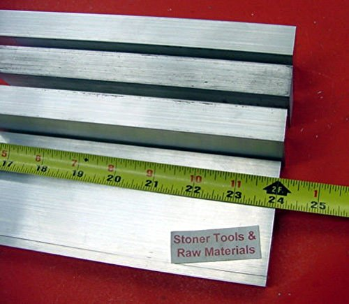4 Pieces 1'' X 4'' ALUMINUM 6061 FLAT BAR 24'' long Solid T6511 Plate Mill Stock by Stoner Metals