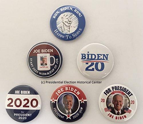 (Joe Biden for President 2020 Campaign Buttons (Set of 6) BIDEN2020-6PK)