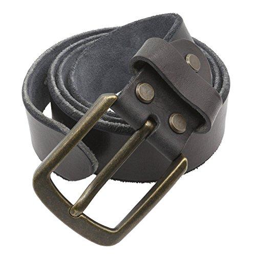 Musesland Men Vintage 1.5 inch Wide Leather Belt Full Grain Genuine - Adjustable