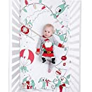100% Cotton Super Soft Crib Sheet - Hypoallergenic and Breathable - Original Design by JumpOff Jo - Christmas Mischief