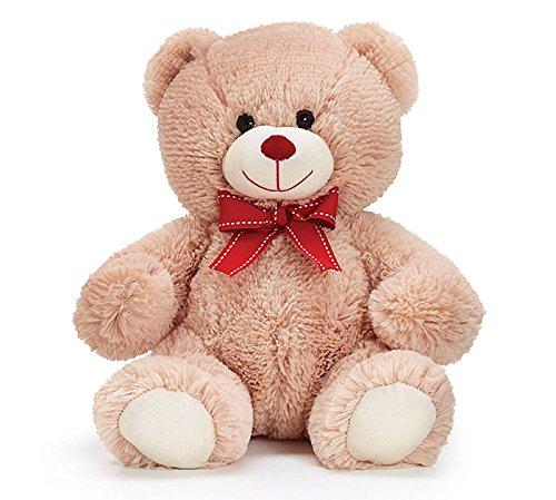 Adorable Plush Cute and Cuddly Beige Teddy Bear Stuffed Anim