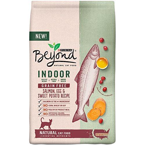 Purina Beyond Indoor Grain Free Salmon, Egg & Sweet Potato Recipe Adult Dry Cat Food, 5 lb. Bag, Salmon, Egg & Sweet Potato
