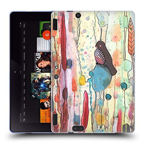 (Official Sylvie Demers Se Laisser Porter Birds 2 Soft Gel Case for Amazon Kindle Fire HDX 8.9)