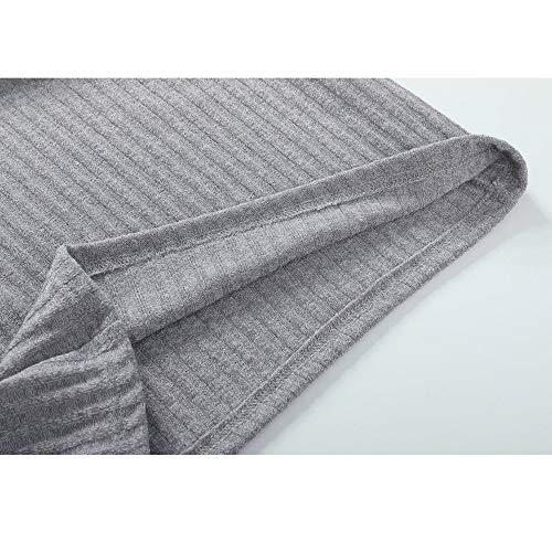 JYC Jersey para Mujer, Suéter Suelto Jumper Tops de Punto, Mujer Casual Largo Manga SaltadorCuello Alto Suéteres Vestir: Amazon.es: Ropa y accesorios