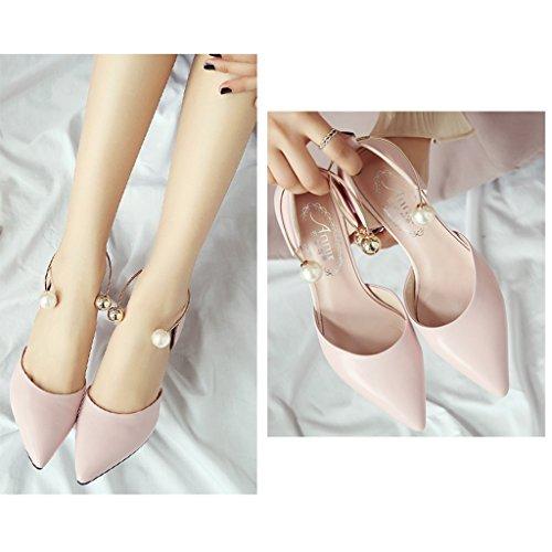 Pink 5 Femmes Rendez Milieu Travailler Dames Sunny 5cm Bureau Faible Haut Chaussures Talon vous P7TnAqx