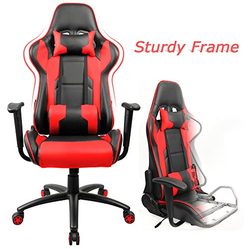 51BFJs0bFkL - Homall-Executive-Swivel-Leather-Gaming-Chair-Racing-Style-High-back-Office-Chair-With-Lumbar-Support-and-Headrest