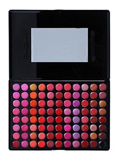 Gloss Palette - FantasyDay Pro Matte 88 Colors Cream Lip Gloss Makeup Palette Lipgloss Cosmetic Set Lip Contouring Kit