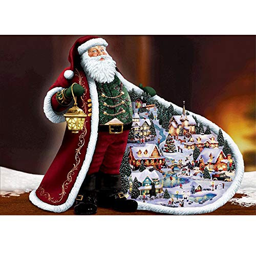 - MXJSUA DIY 5D Diamond Painting by Number Kits Full Drill Rhinestone Embroidery Cross Stitch Pictures Arts Craft for Home Wall Decor,Santa Claus-12x16In