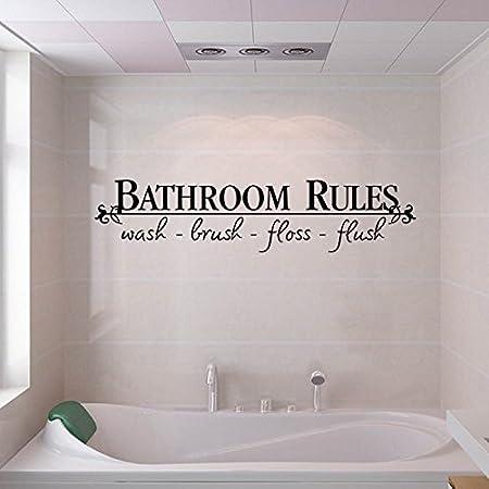 GOUZI Englisch Sprüche Wand-Stick Badezimmer Englisch Sprüche ...