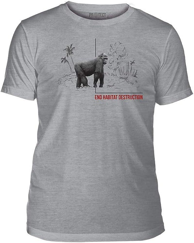The Mountain End Habitat Destruction Triblend Unisex T-Shirt - Habitat Gorilla - Grey