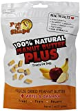 Pet 'n Shape Freeze Dried Peanut Butter PLUS Treats for Dogs, Apple and Banana, 100 Percent Natural, 3 Pack of 2-Ounce Bags