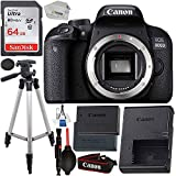 Canon EOS 800D (Rebel T7i): Includes Promotional Spare Battery+ SanDisk Ultra 64GB SDHC Class 10 Card, 50' Tripod, and More