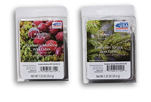 Mainstays Winter Scented Wax Cubes Bundle - Cranberry Mistletoe and Evergreen Spruce
