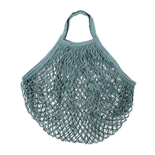 - Kicode Shoping Mesh Bag Reusable Portable Knitted Cotton Tote Shopping String Foldable Fruit Grocery Shopper Woven Net Handbag