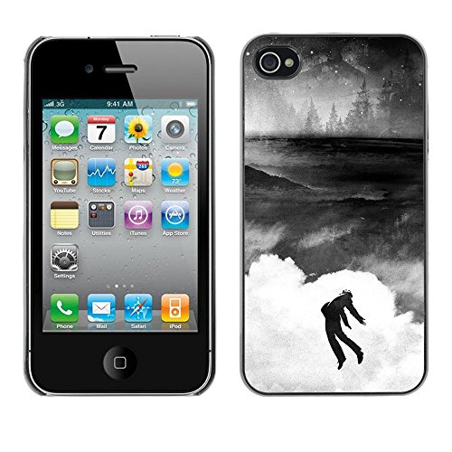 SuperStar // Refroidir image Étui rigide PC Housse de protection Hard Case Protective Cover for iPhone 4 / 4S / Banksy Graffity /