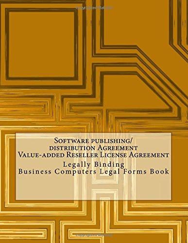 Software Publishingdistribution Agreement Value Added Reseller