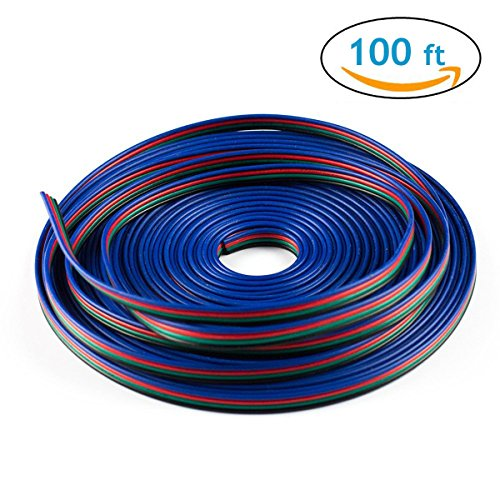 icreating-100ft-4-pin-rgb-extension-cable-wire-cord-for-5050-3528-color-changing-flexible-led-strip-