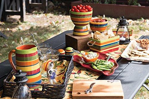 Boston International Ceramic Bowls, Set of 3, A La Fiesta by Celebrate the Home (Image #1)
