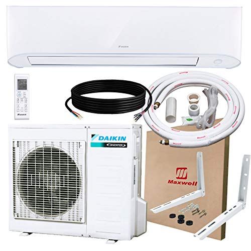 Daikin 24,000 BTU 17 SEER Wall-Mounted Ductless Mini-Split A/C Heat Pump System 15-ft Installation Kit and Wall Mounting…