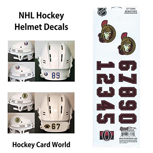 Ottawa Senators Helmet - (HCW) Ottawa Senators SportsStar NHL Hockey Helmet Decals Sticker Sheet