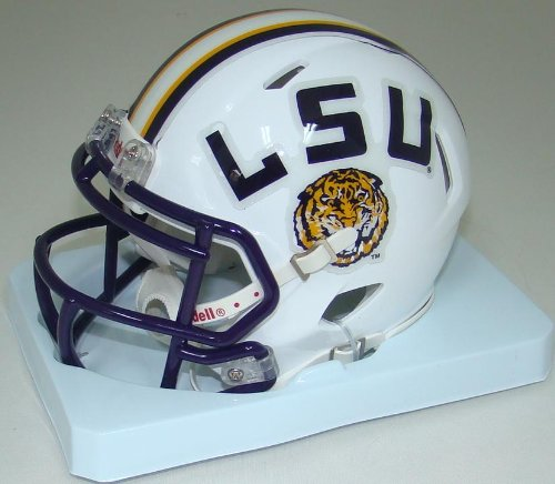 NCAA Louisiana State (LSU) Fighting Tigers White Speed Mini Helmet - Lsu Helmet Decal