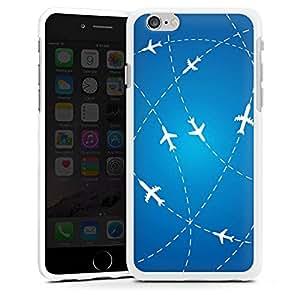 Carcasa Design Funda para Apple iPhone 6 silicona case blanco - Around The World