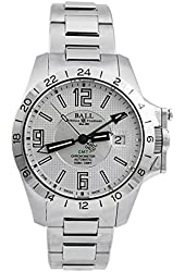 Ball GM2098C-SCAJ-SL Watch Magnate GMT Mens - Silver Dial Stainless Steel Case Automatic
