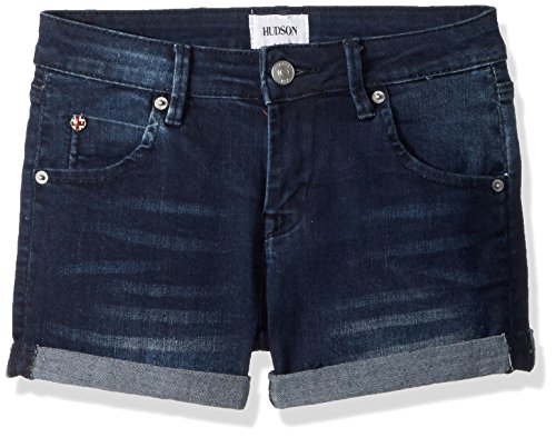 HUDSON Girls' Big Roll Cuff Short, Low Octane, 10]()