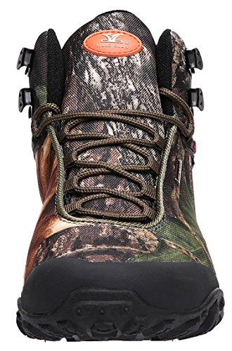 Xiang Guan Uomo Outdoor High-top Camouflage Resistente Allacqua Trekking Scarpe Da Trekking Verde