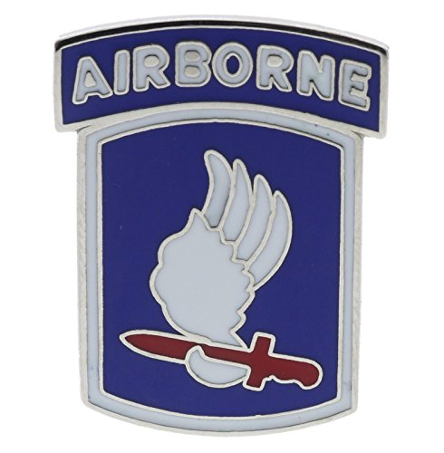 US Army 173rd Airborne Silver Tone 1 inch Hat Pin JCH14659D150 (173rd Airborne Division)