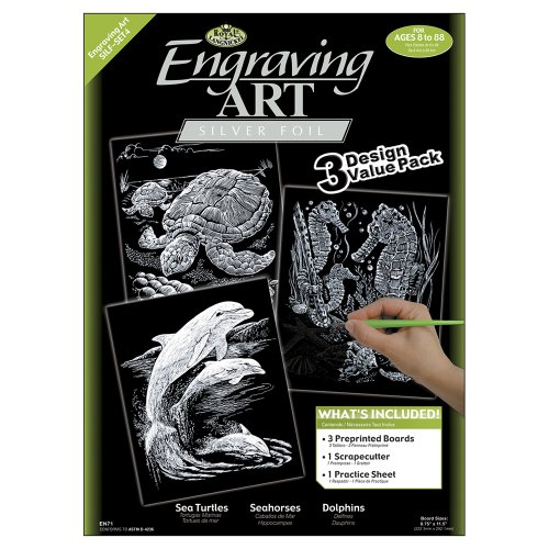 Art Engraving Royal (Royal and Langnickel Engraving Art 3 Design Value Pack, Silver)