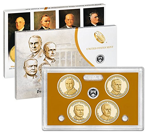 American Mint Coins - 2014 S US Mint Presidential Dollars Proof Set