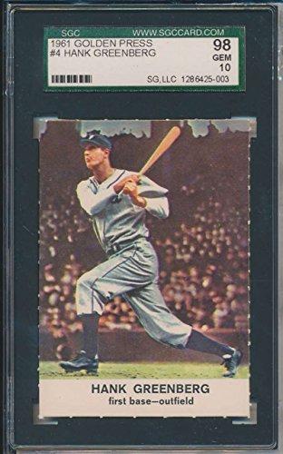 1961 Golden Press #4 Hank Greenberg Detroit Tigers SGC 98...
