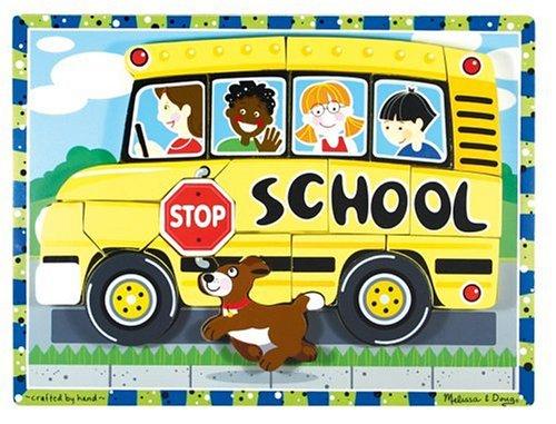 Melissa & Doug School Bus - Chunky Puzzle