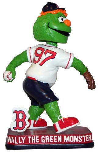 MLB Boston Red Sox 2014 Mascot Springy Logo Base Wally The Green Monster Bobble Home, Red