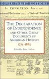 Book cover for The Declaration of Independence and Other Great Documents of American History 1775-1865