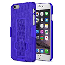 iPhone 6s Case - MoKo [Revised Version / Fixed Belt Clip Holster] Slim Hard Shell Holster Combo Case for Apple iPhone 6 / 6s 4.7 Inch Smart Phone, INDIGO