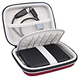#7: Lacdo EVA Shockproof Carrying Travel Case for Seagate Expansion, Seagate Backup Plus, Toshiba Canvio Basics, Silicon Power 1TB 2TB 4TB 5TB Portable External Hard Drive USB 3.0, Large Size Red